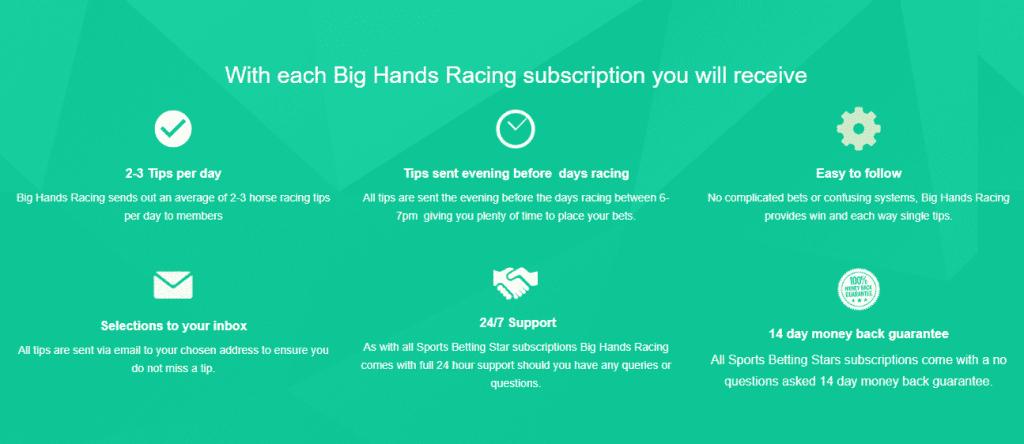 big hands racing info