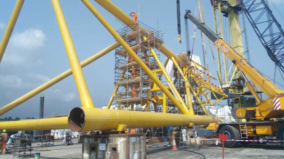 Scaffolding Operations on Jacket Leg – Saipem Contracting Nigeria Limited