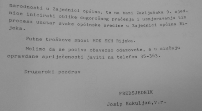 HR-DARI-793. Međuopćinska konferencija SKH Rijeka, 1987-1989, k. 52, 20 sjed. Pred., 24.XII.87.