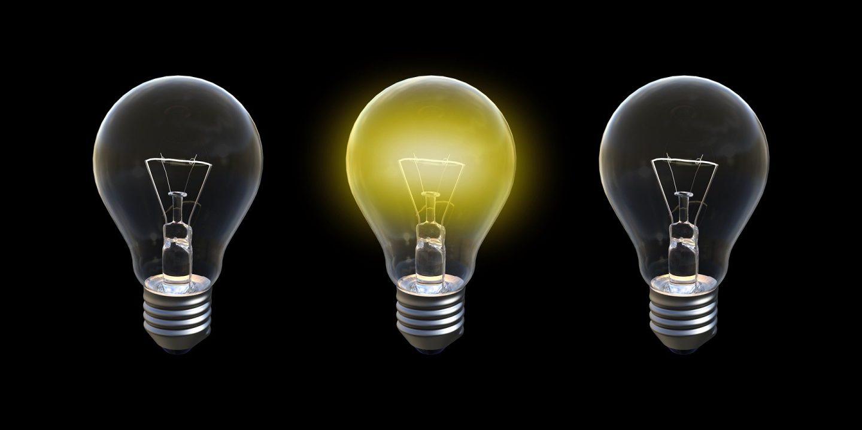Die eine helle Glühbirne