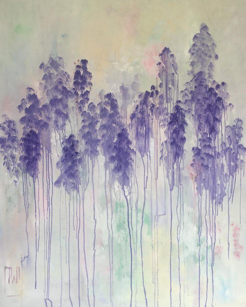 flowerscape nr 17 - olie op doek