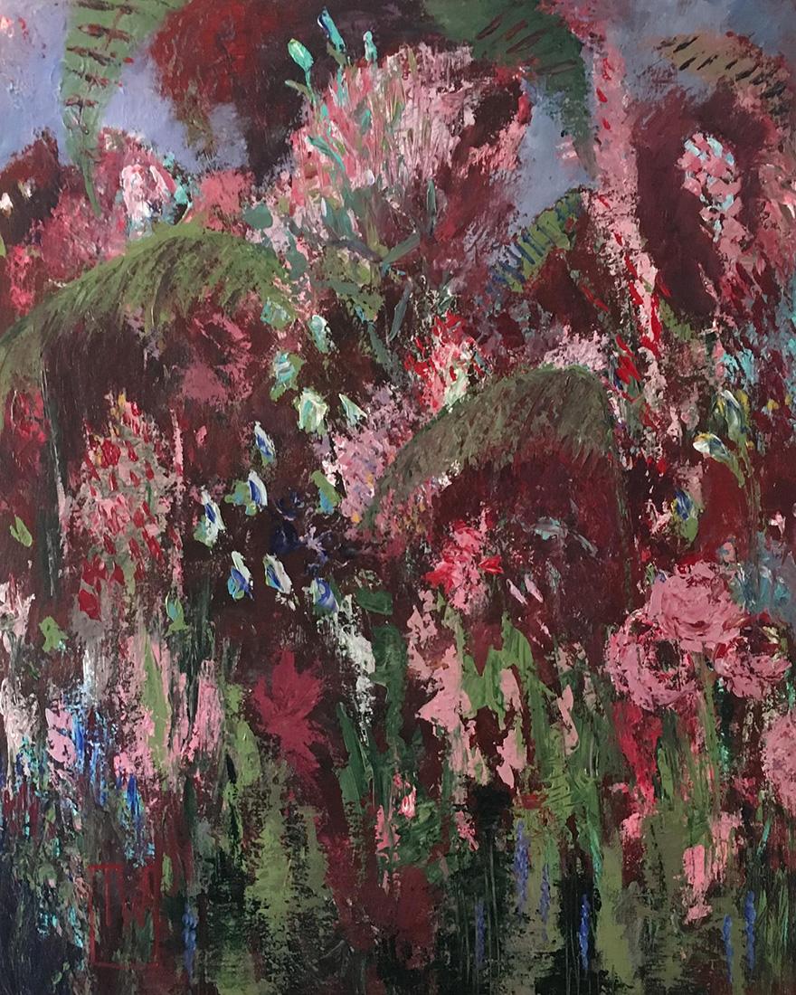 flowerscape nr 16 - 80x100 - olie op doek