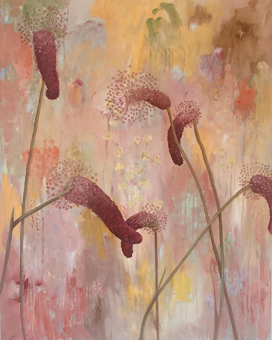 flowerscape nr 18 - 80x100 - olie op doek