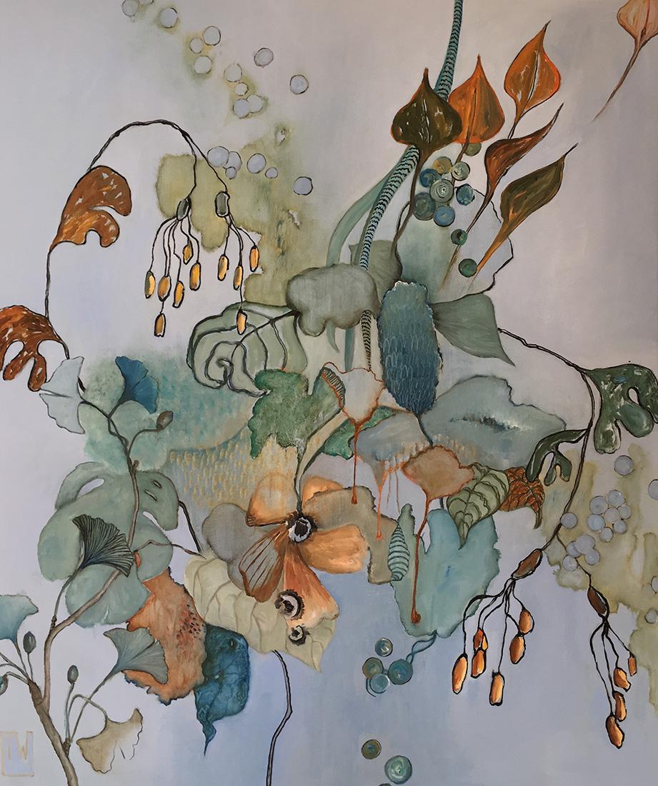 flowerscape nr 8 - 100x120 - olie op doek