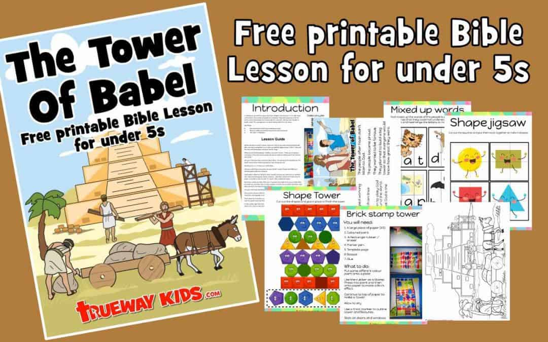 Explore the Tower of Babel, Learn that God resists the proud. Learn shapes and numbers with this free at home Bible lesson for under 5s. Genesis 11. Games, Crafts, Activities, songs, lesson, worksheets and more.