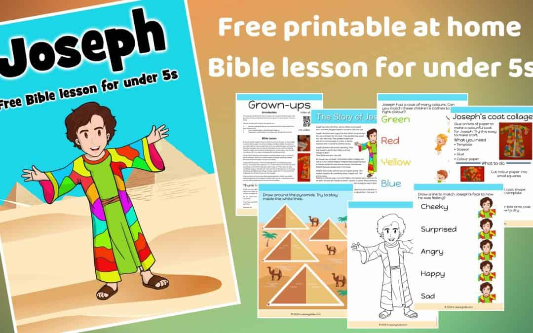 Joseph - Free Bible Lesson For Under 5s - Trueway Kids