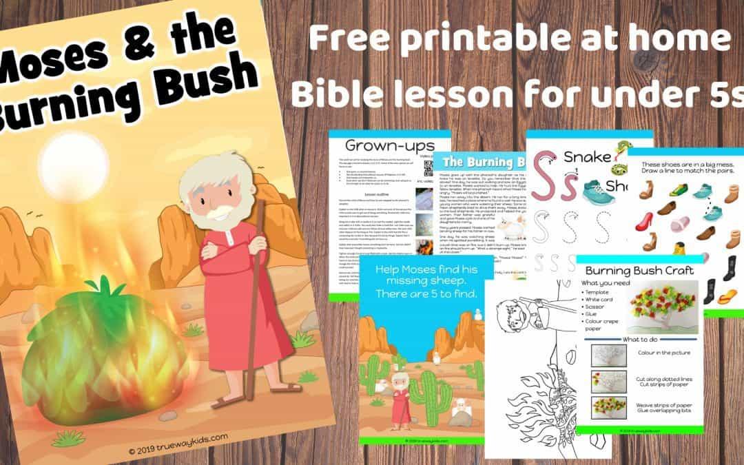 Moses and the burning Bush - free printable preschool Bible lesson