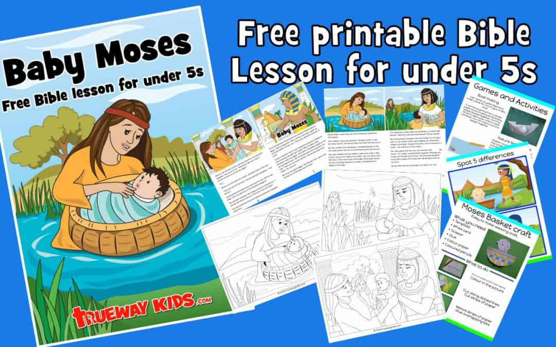 Baby Moses - Free printable Bible lesson. Learn how moses mother trusted God. God has a plan. Worksheets, coloring pages, story and more.