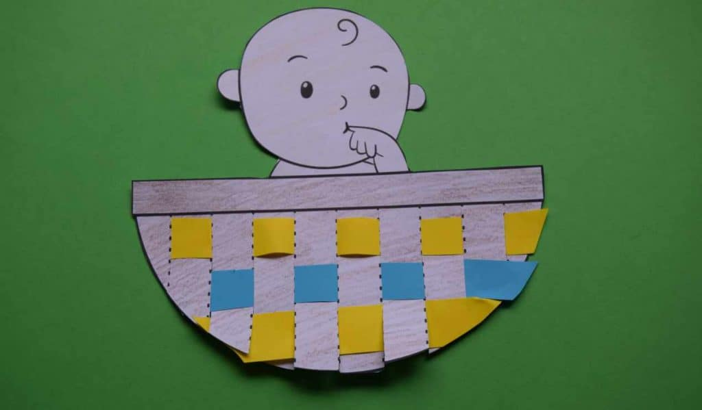 Easy Baby moses craft for kids