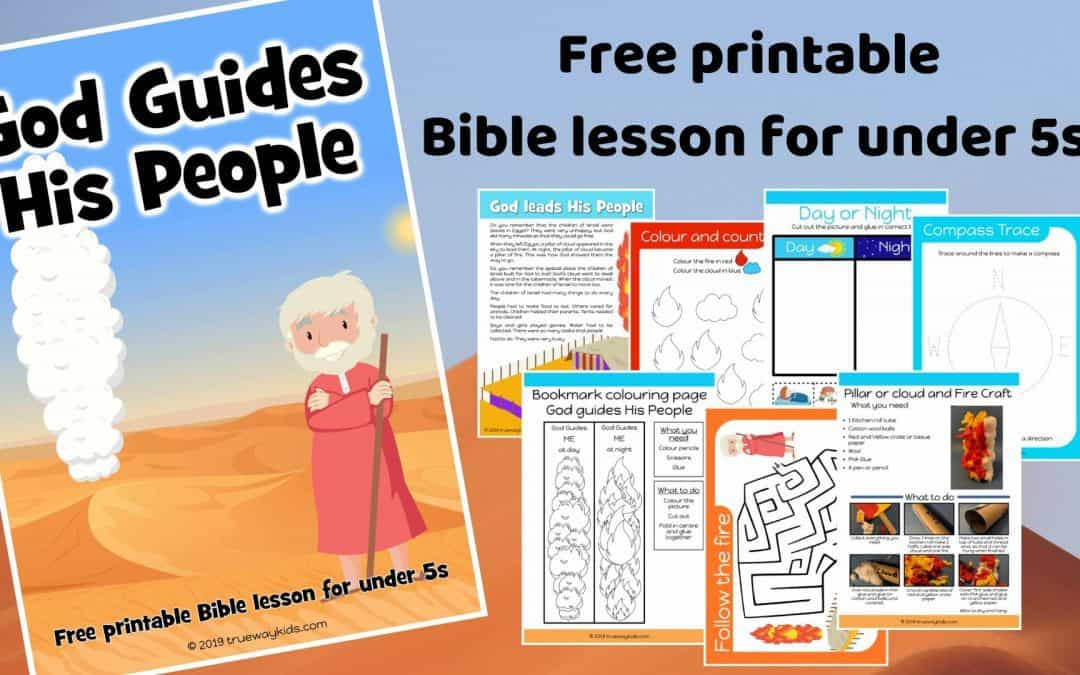 God guides his People preschool Bible lesson. Learn about the Pillar or cloud and of fire.Games, Crafts, Activities, songs, lesson, worksheets and more. Free printable lesson.