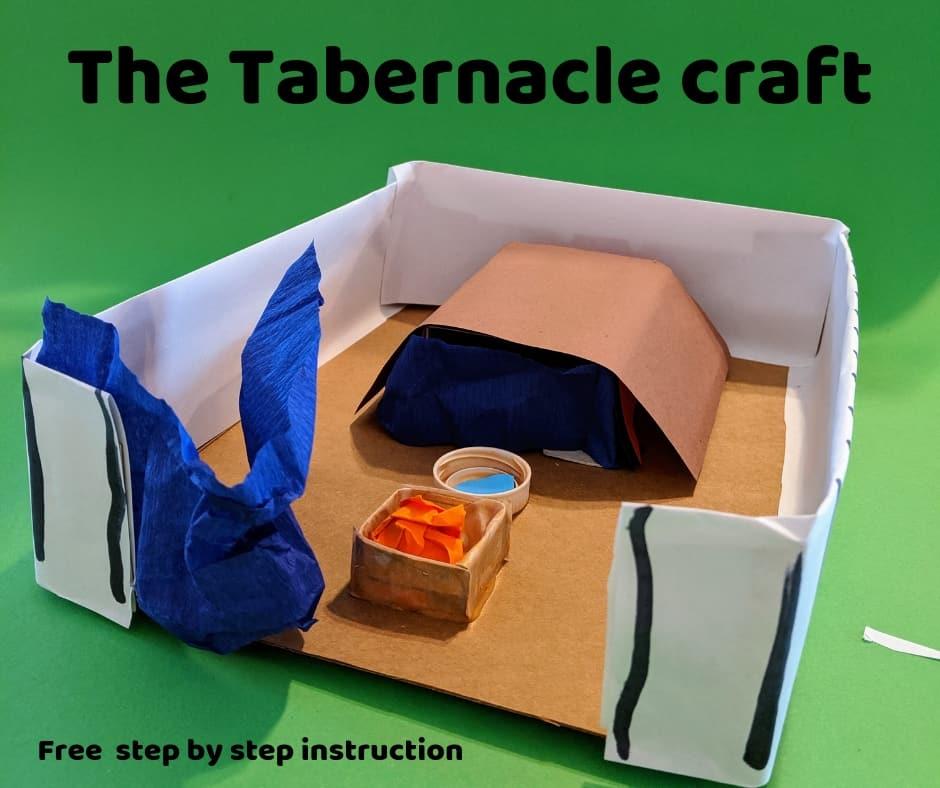 The Tabernacle preschool Bible craft
