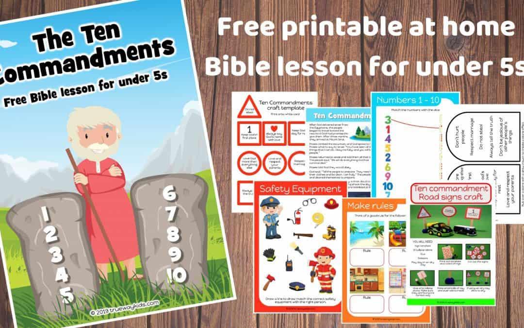 The Ten Commandments – Free Bible lesson for kids
