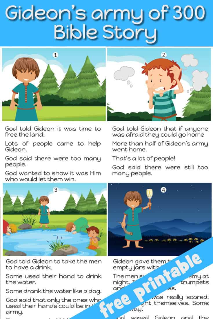 Gideon S Army Of 300 Free Bible Lesson For Under 5s Trueway Kids