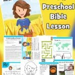 Ruth Bible lesson for under 5s. Learn how God redeems us and bring us into His family. Includes story, worksheets, colouring pages, craft and more. Free printable.