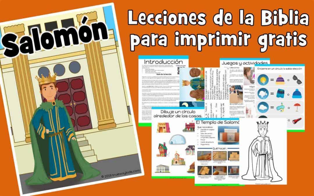 Salomón – lección de la biblia para niños