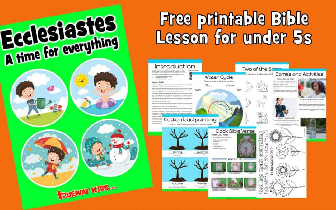 Help your child explore the Book of Ecclesiastes in a fun and relevant way for preschoolers. Free printable lesson includes worksheets, craft, coloring pages and more.