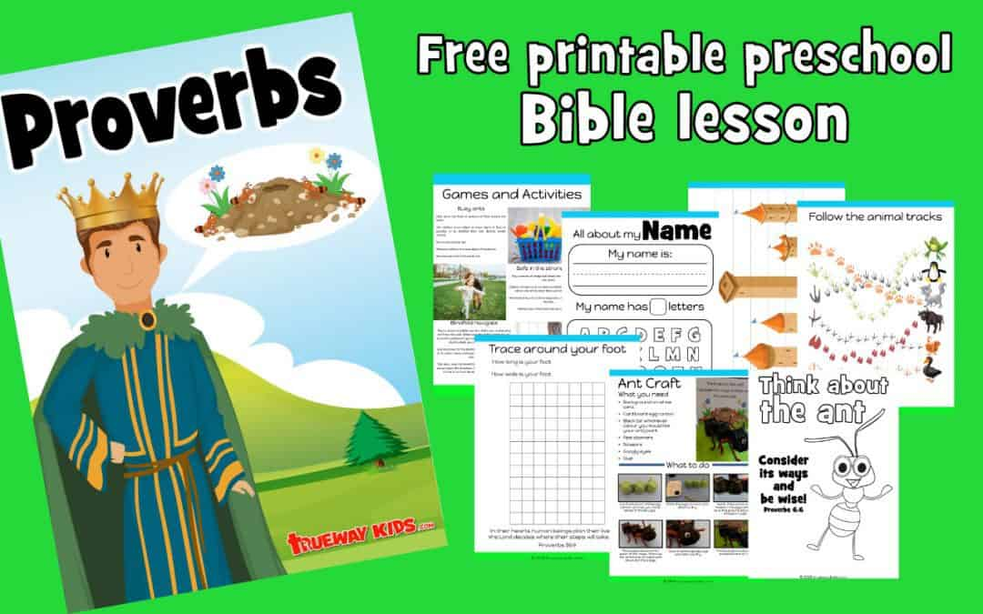 Proverbs Preschool Bible Lesson Trueway Kids
