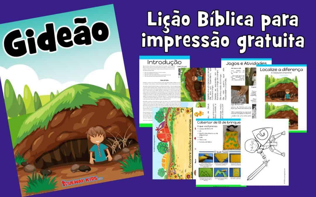 Gideão - Lição Bíblica para impressão gratuita para usar em casa ou na igreja.