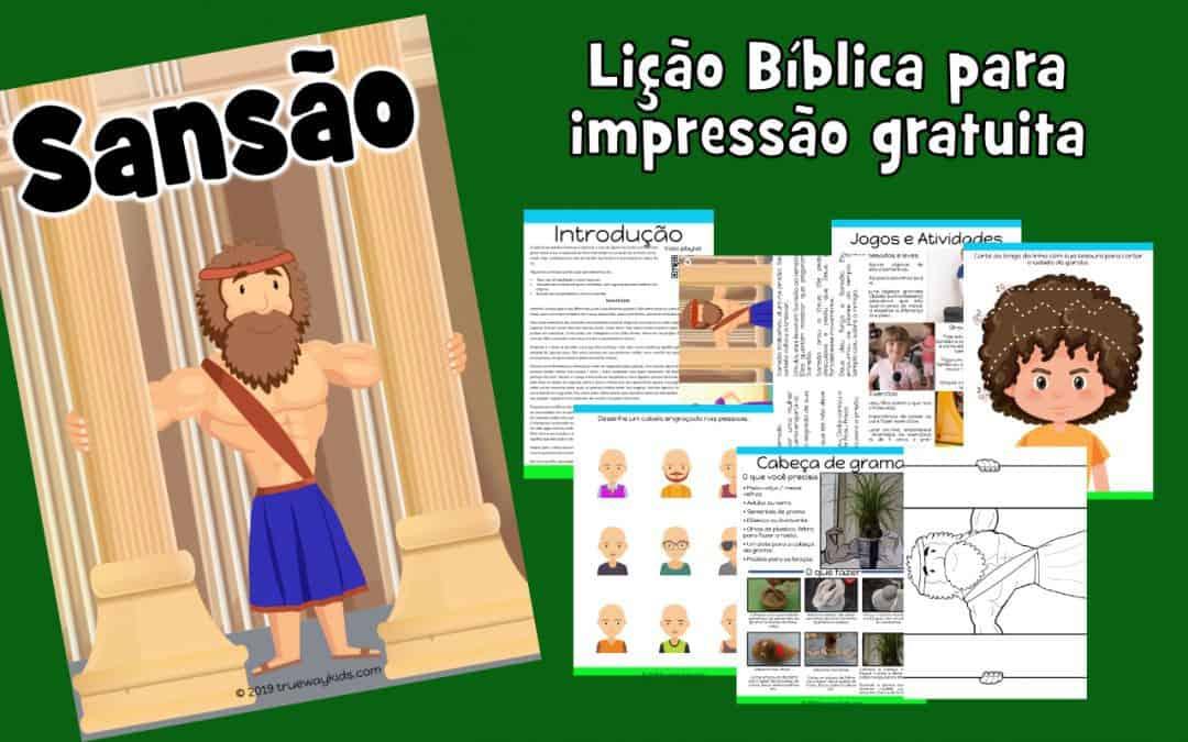Sansão – lição da bíblia para crianças