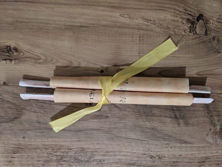 Paper Scroll Bible Craft