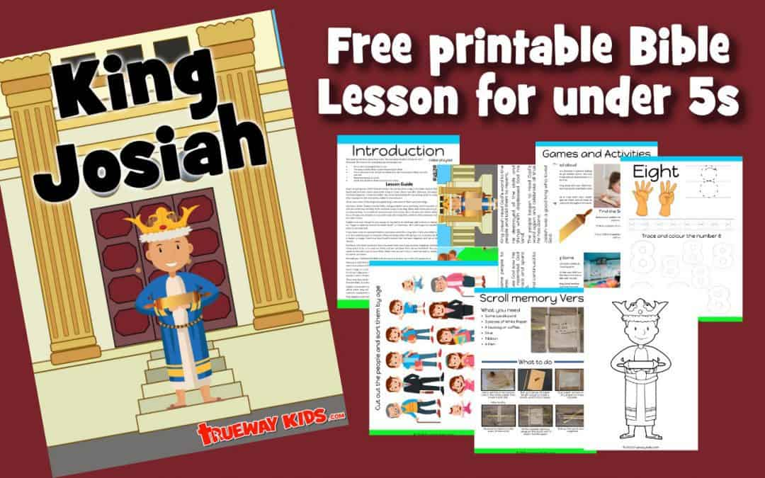 King Josiah Preschool Bible lesson. Free printable worksheets, coloring pages, crafts and more. Learn about the young king who loved God's word.