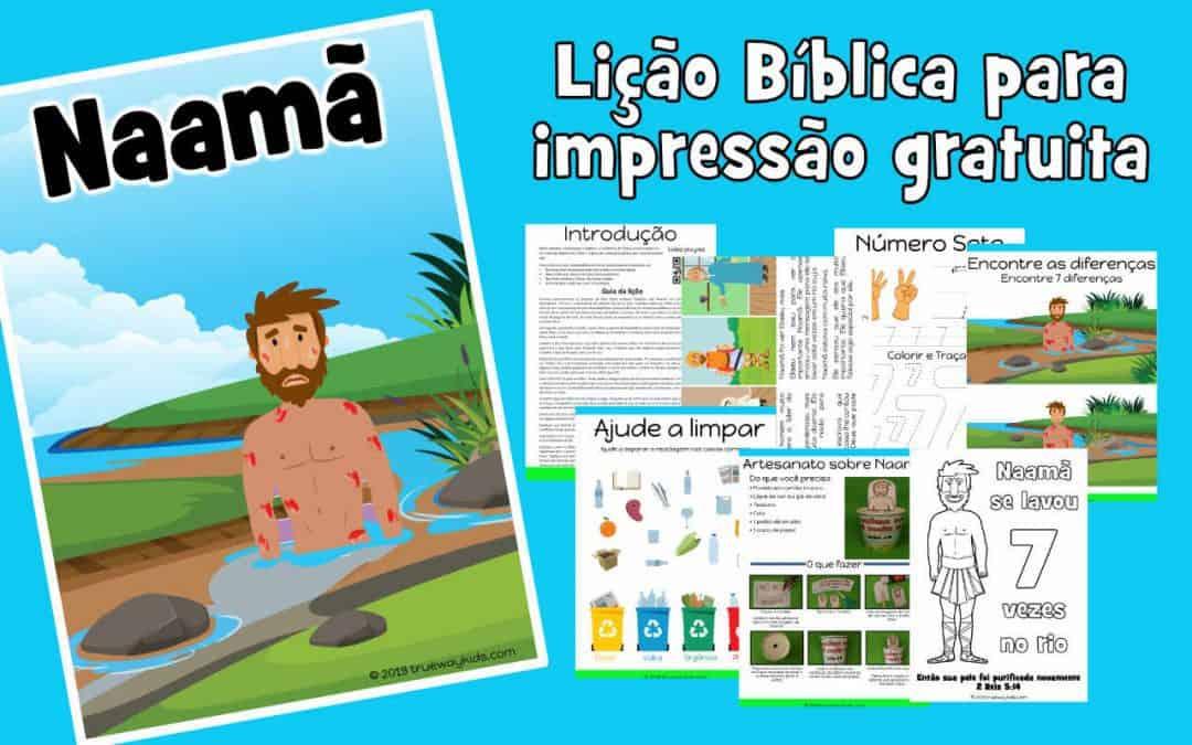 Naamã – lição da bíblia para pré-escolares