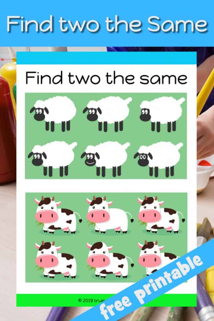 Match the animal pairs - free printable worksheet for preschool children. Job had lots of animals in the Bible can you find two the same.