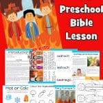 Help your child explore the life of Shadrach, Meshach, and Abednego. Learn from the Fiery furnace about God's protect. Preschool Bible lesson based on Daniel 3. Free printable included worksheets, games, coloring pages, crafts and more.