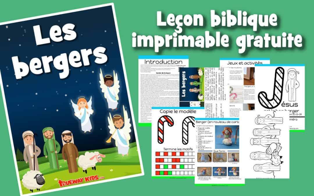 Les bergers Leçon biblique imprimable gratuite à utiliser à la maison ou à l'église