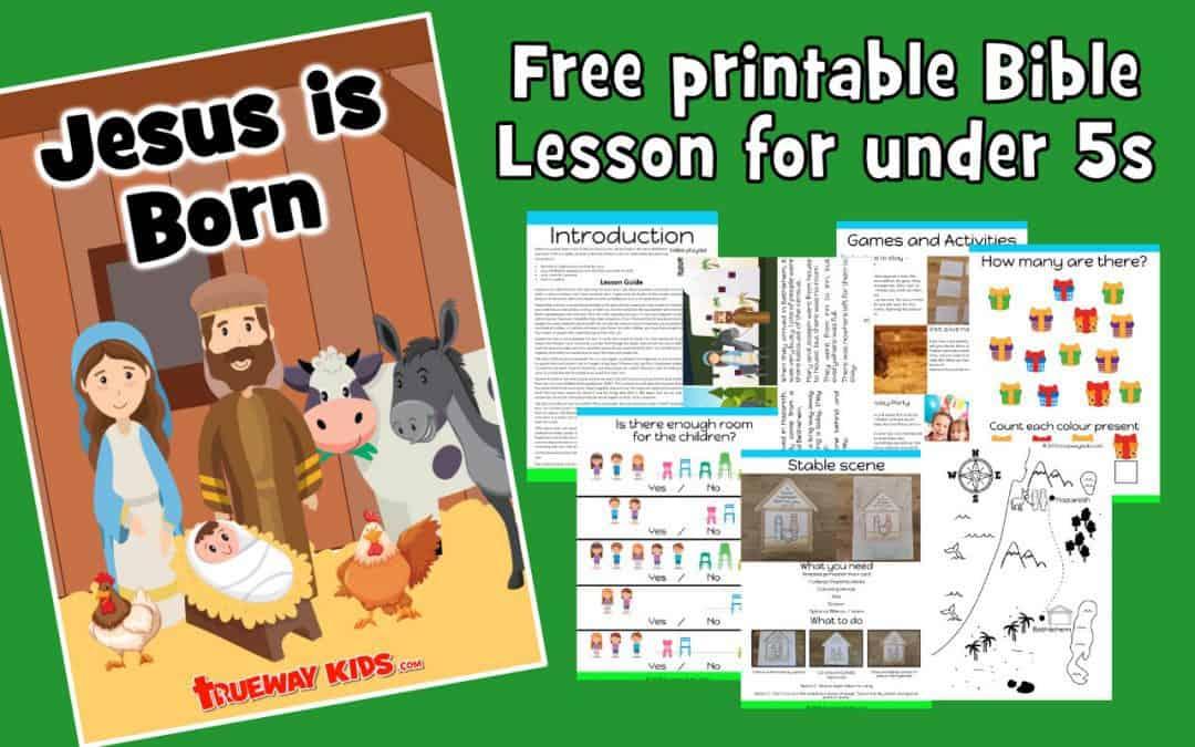 Jesus Is Born Free Printable Christmas Bible Lesson Trueway Kids