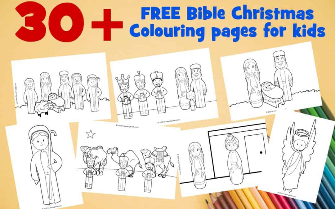 30 + FREE Printable Christmas Coloring Pages - Bible Based - Trueway Kids