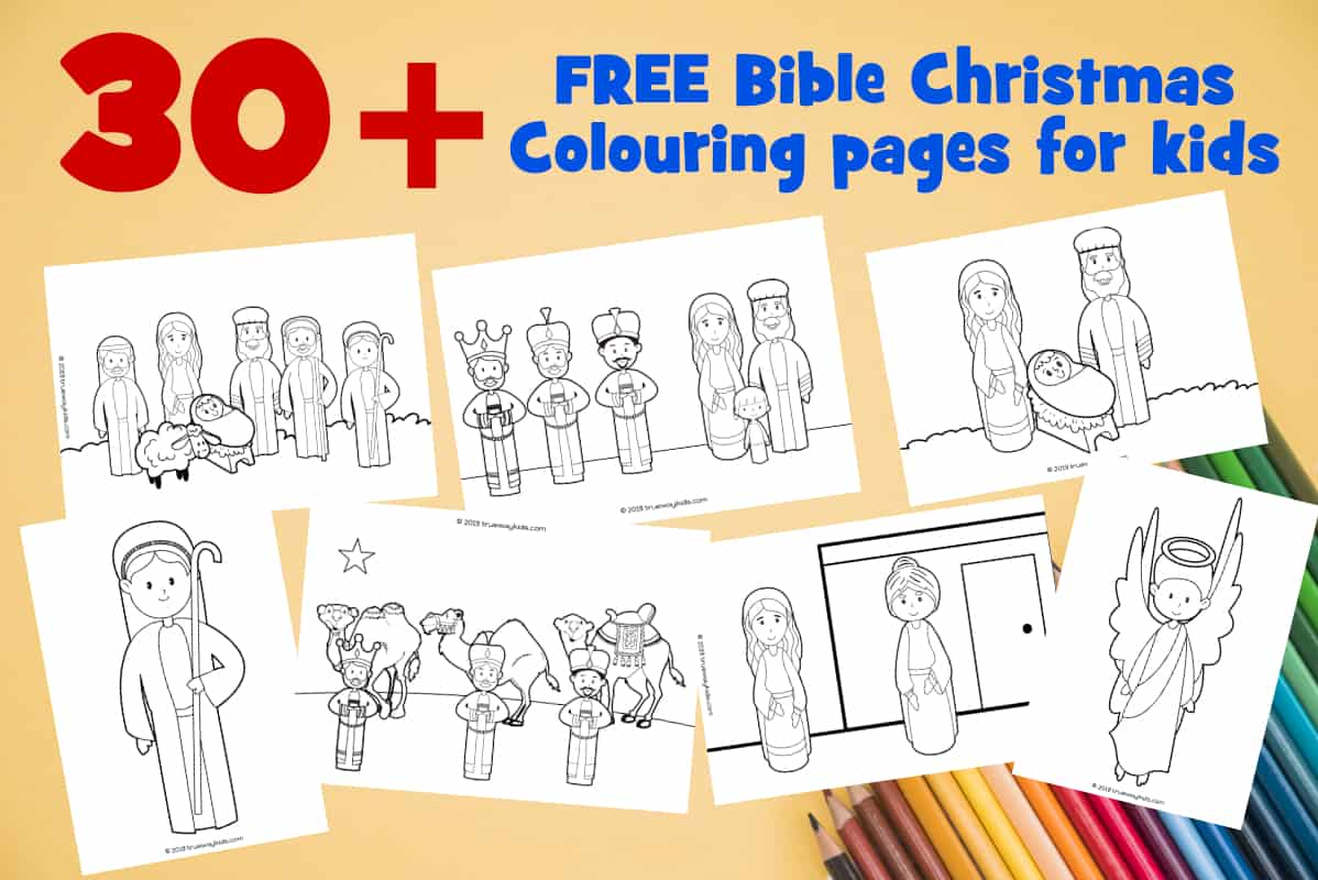 30+ free printable Christmas coloring pages for kids - Bible based