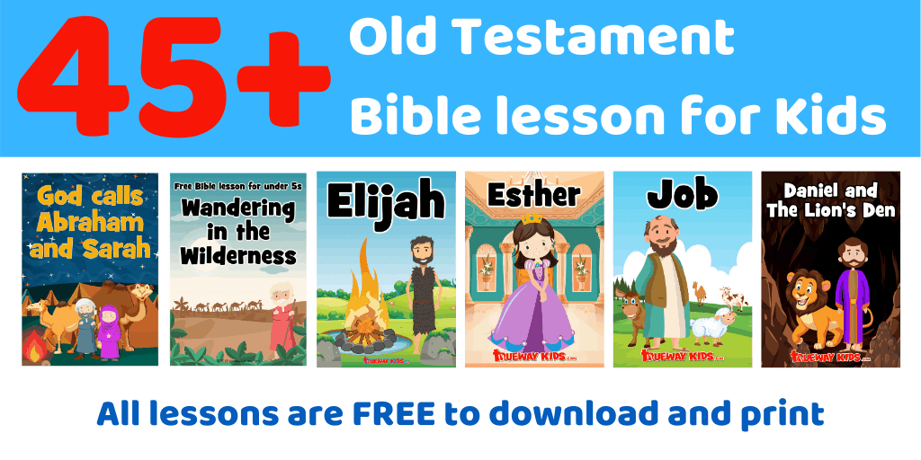 45+ FREE printable Old Testament Bible lessons for preschool kids