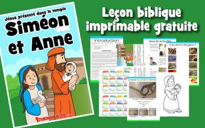 Siméon et Anne – Jésus présenté dans le temple
