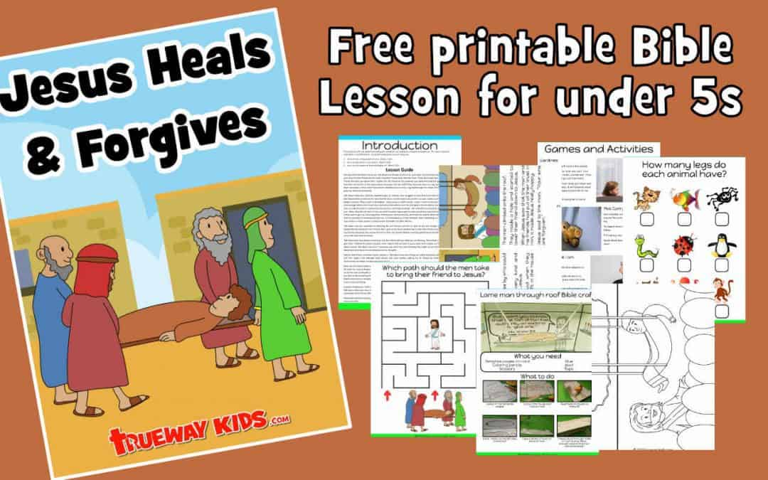 Learn about the 4 friends who brought the paralyzed man to Jesus. Jesus heals and forgives. Bible lesson with crafts, games, coloring pages, worksheets and more.
