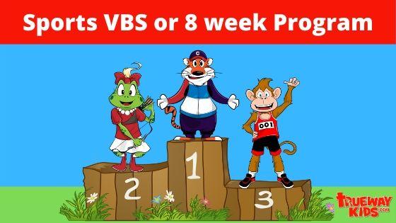 Sports VBS or 8 week sports theme Bible program for kids