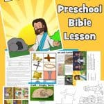 Free printable Easter Bible lesson. Covering good Friday through to Easter. Empty tomb craft, coloring pages, Easter Bible games and Activities for home. Ideal for preschool children