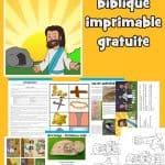 Leçon biblique de Pâques imprimable gratuitement. Couvre le Vendredi Saint jusqu'à Pâques. Artisanat de la tombe vide, pages à colorier, jeux de la Bible de Pâques et activités à la maison. Idéal pour les enfants d'âge préscolaire