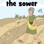 Free printable Bible lesson for home or church. Includes activites for preschool children to explore the parables of the sower. Worksheets, Bible games, coloring pages and craft all included.