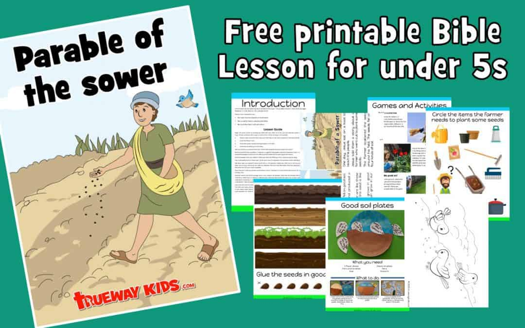 the Parable of the Sower preschool Bible lesson - free printable