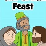 Free printable Preschool Bible lesson. In Luke 14:15-24, Jesus tells the parable of the great banquet and reminds us that God invites us to join Him for a special celebration. Games, activities, Bible worksheets, crafts coloring pages and more. Homeschool Bible time to church.