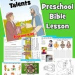 The Parable of the Talents found in Matthew 25:14-30. Free printable preschool Bible lesson. Includes guide, games, activities, worksheets, coloring, craft and more.