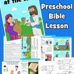 Free printable Bible lesson. In John 4:1-42, Jesus witnesses to a Samaritan woman. In this lesson, children will learn that Jesus alone can meet our deepest need. Ideal for preschool children. Games, worksheets, coloring pages, crafts and more. All free to print and use at home or church