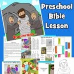 When Jesus was on earth, he had three friends who were siblings, Lazarus, and his sisters Mary and Martha. Jesus loved these friends. In John 11, we learn about a great miracle Jesus did for them. Guide, story, worksheets, coloring pages, craft and more all included.