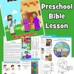 Mary and Martha - FREE printable preschool Bible lesson