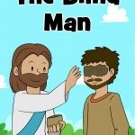 Free printable Bible lesson for kids. In John 9: 1-42 He heals a man born blind in an unusual way. Story, lesson guide, coloring pages, craft and more all included. Ideal for preschoolers at home or at church.