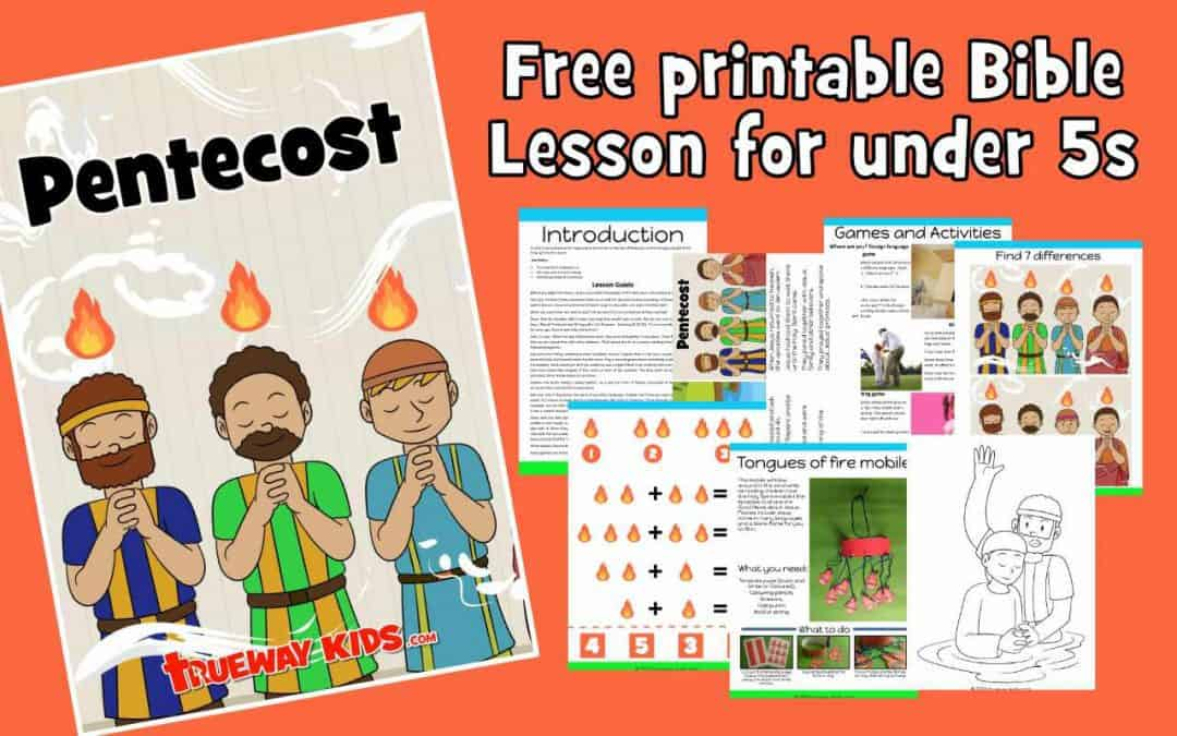 In Acts 2, we read about the beginning of the church on the Day of Pentecost, where God gave the gift of the Holy Spirit to the church. Free printable Bible pack for preschool kids at home or at church. Worksheets, crafts, coloring pages and more