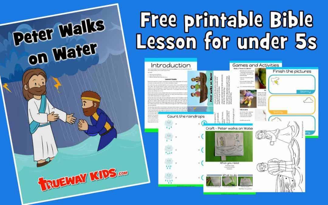 Peter walks on Water - Preschool Bible lesson