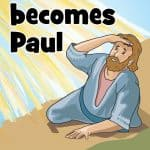 Saul becomes Paul. Free printable Bible lesson on the story of his conversion is found in Acts 9. Coloring pages, story, lesson guide, games and activities, crafts and more. Damascus road