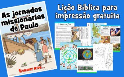 As jornadas missionárias de Paulo